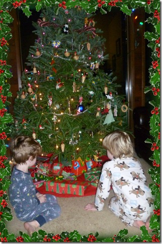 Boys with tree
