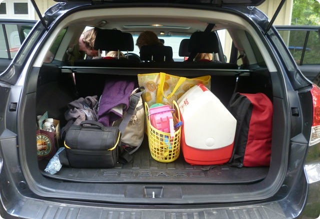 The car was packed