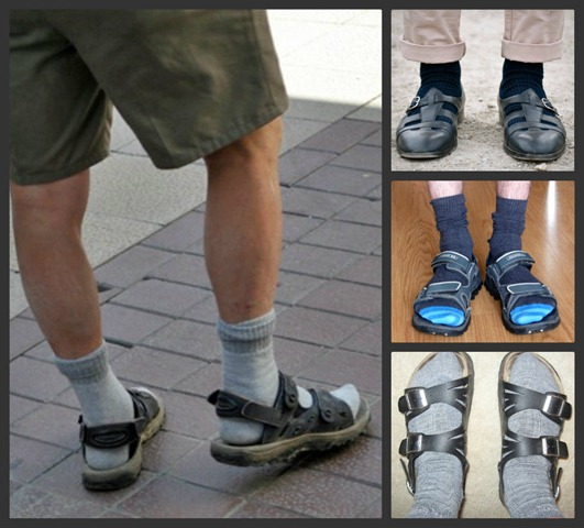 Awful Sandal and Sock Collage