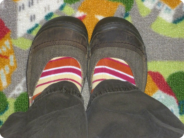 Striped Socks with Sandals