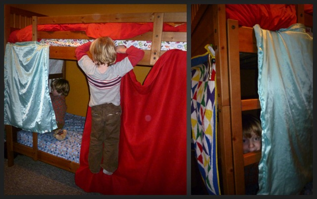 bunk bed fort building collage