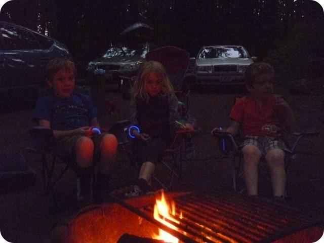 Evening firelight