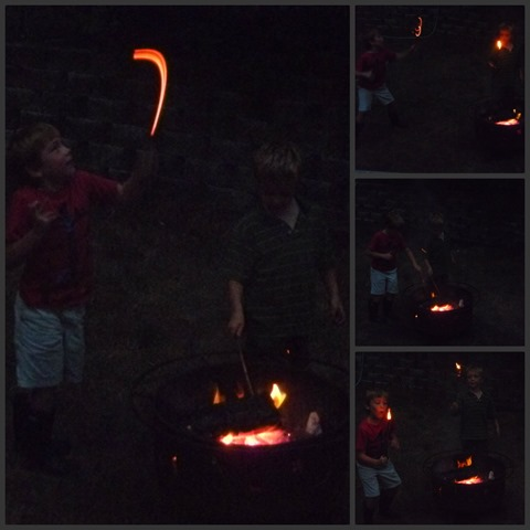 Playing with Fire Collage