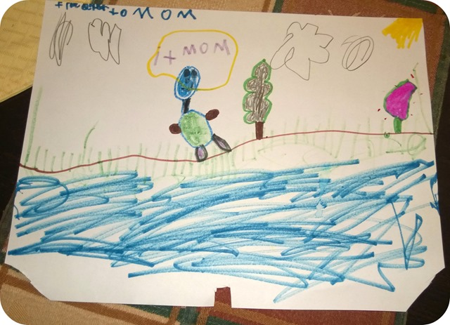 Carters picture of me with tree