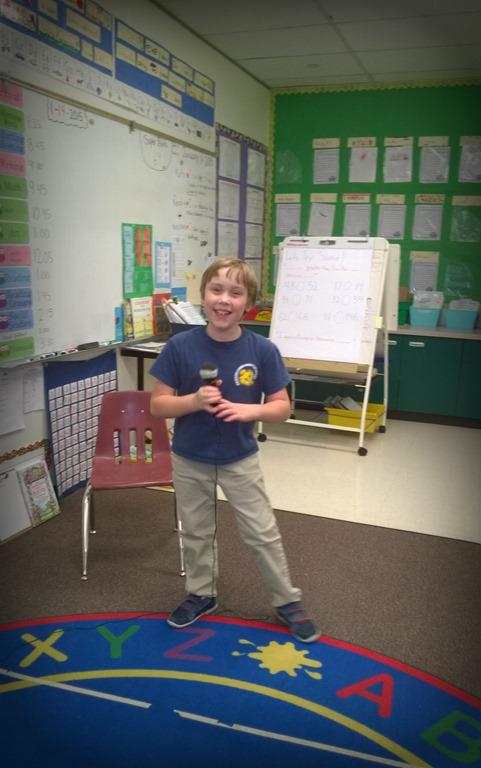 Cody in my classroom