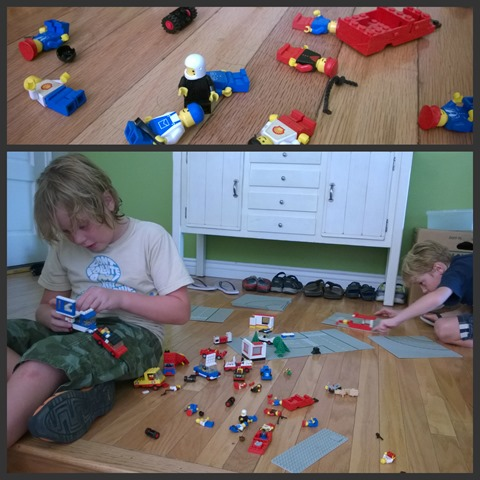 Old School Legos Collage