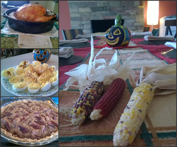 Food and Table Collage